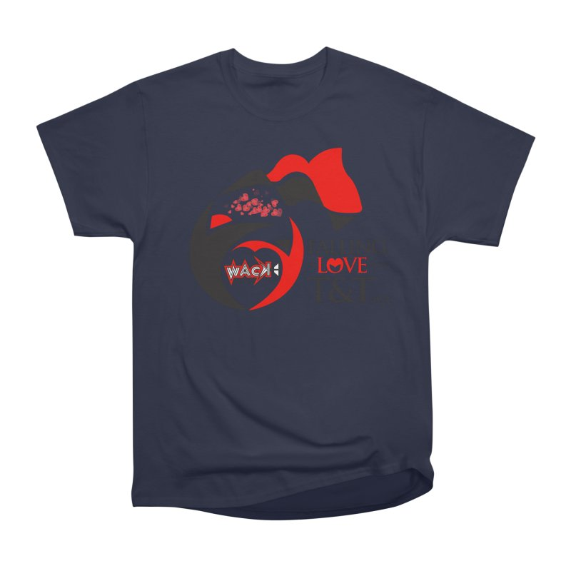 Fallin in Love with T&T Round Logo 2 Men's Heavyweight T-Shirt by WACK 90.1fm Merchandise Store