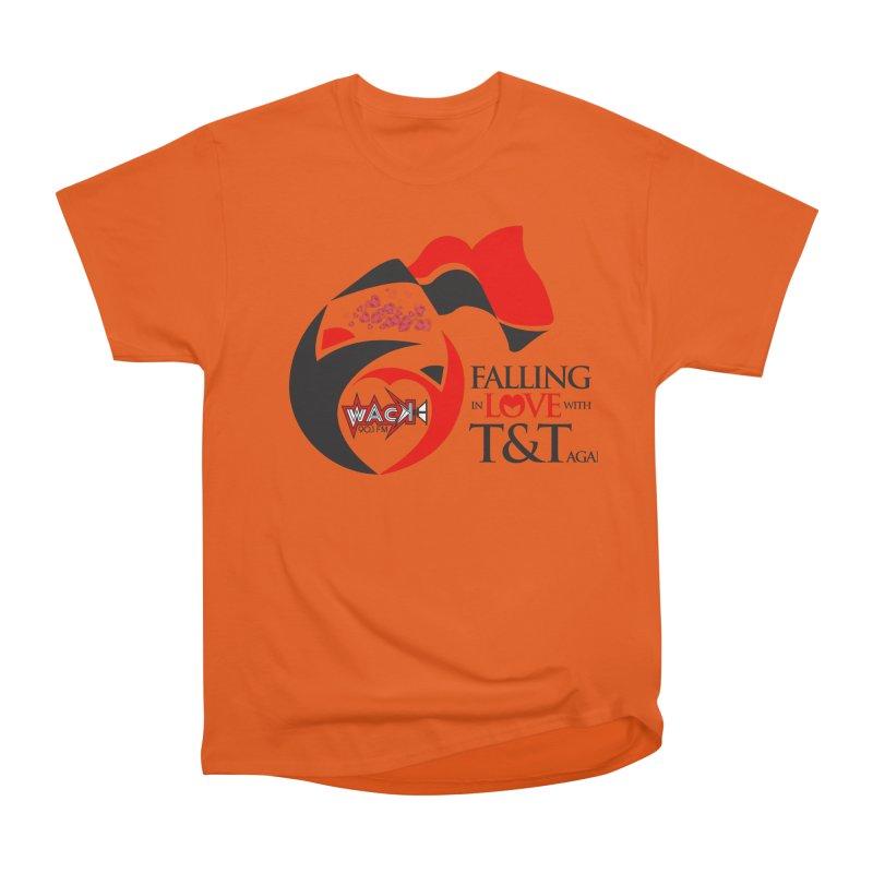 Fallin in Love with T&T Round Logo 2 Men's Heavyweight T-Shirt by WACK 90.1fm Merchandise Store