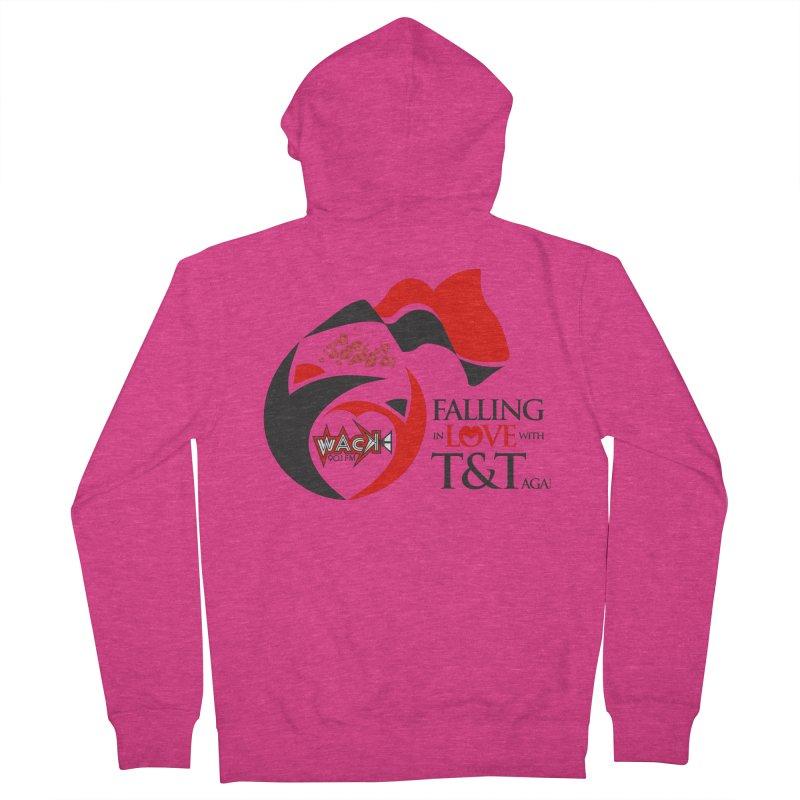 Fallin in Love with T&T Round Logo 2 Women's Zip-Up Hoody by WACK 90.1fm Merchandise Store