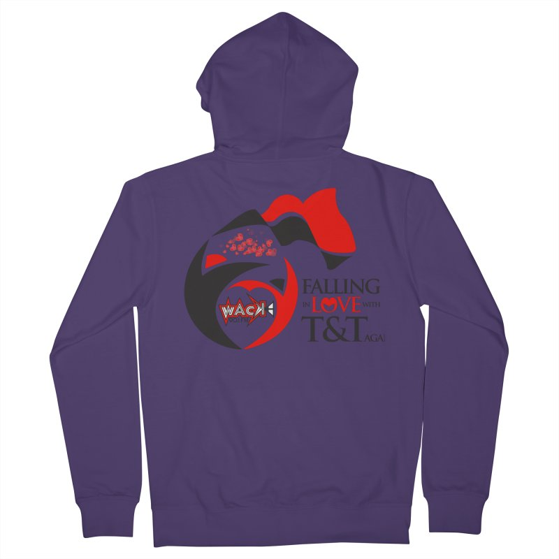 Fallin in Love with T&T Round Logo 2 Women's French Terry Zip-Up Hoody by WACK 90.1fm Merchandise Store