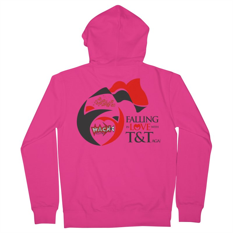 Fallin in Love with T&T Round Logo 2 Men's French Terry Zip-Up Hoody by WACK 90.1fm Merchandise Store