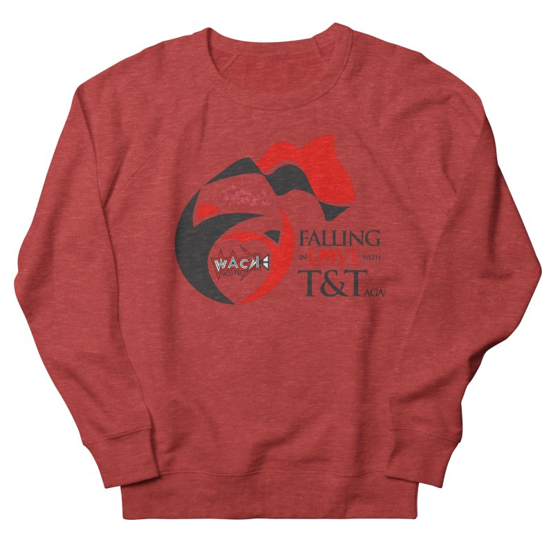 Fallin in Love with T&T Round Logo 2 Men's French Terry Sweatshirt by WACK 90.1fm Merchandise Store