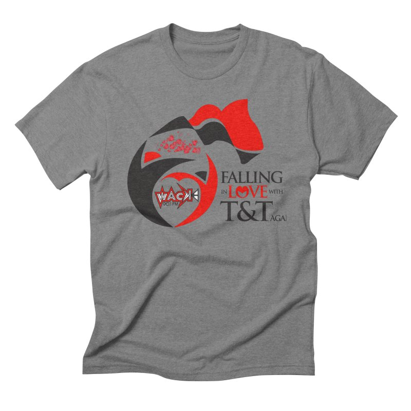 Fallin in Love with T&T Round Logo 2 Men's Triblend T-Shirt by WACK 90.1fm Merchandise Store