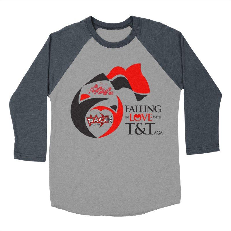Fallin in Love with T&T Round Logo 2 Women's Baseball Triblend T-Shirt by WACK 90.1fm Merchandise Store
