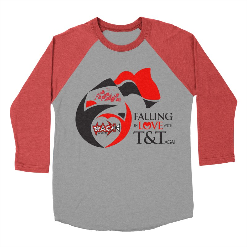 Fallin in Love with T&T Round Logo 2 Men's Baseball Triblend Longsleeve T-Shirt by WACK 90.1fm Merchandise Store