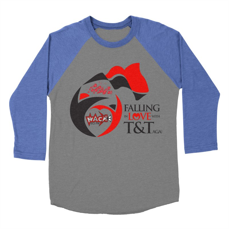 Fallin in Love with T&T Round Logo 2 Men's Baseball Triblend T-Shirt by WACK 90.1fm Merchandise Store