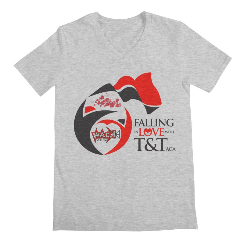 Fallin in Love with T&T Round Logo 2 Men's Regular V-Neck by WACK 90.1fm Merchandise Store