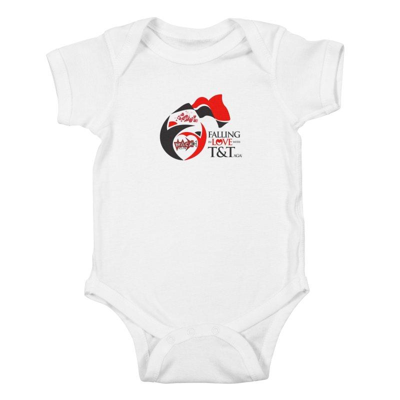 Fallin in Love with T&T Round Logo 2 Kids Baby Bodysuit by WACK 90.1fm Merchandise Store