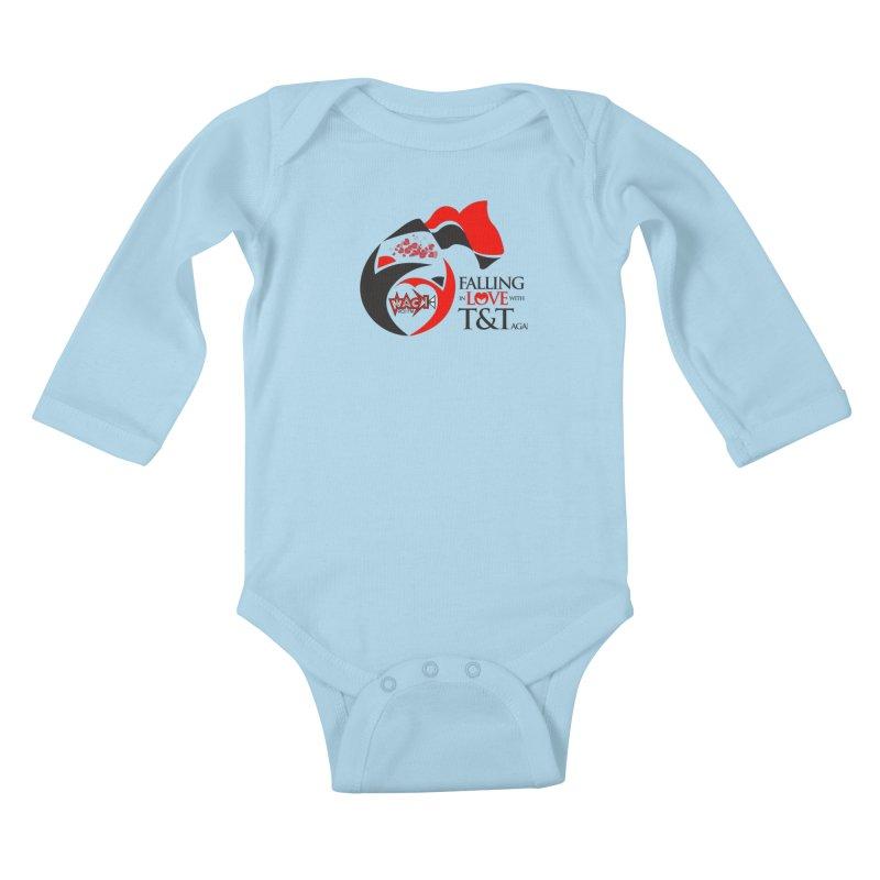 Fallin in Love with T&T Round Logo 2 Kids Baby Longsleeve Bodysuit by WACK 90.1fm Merchandise Store