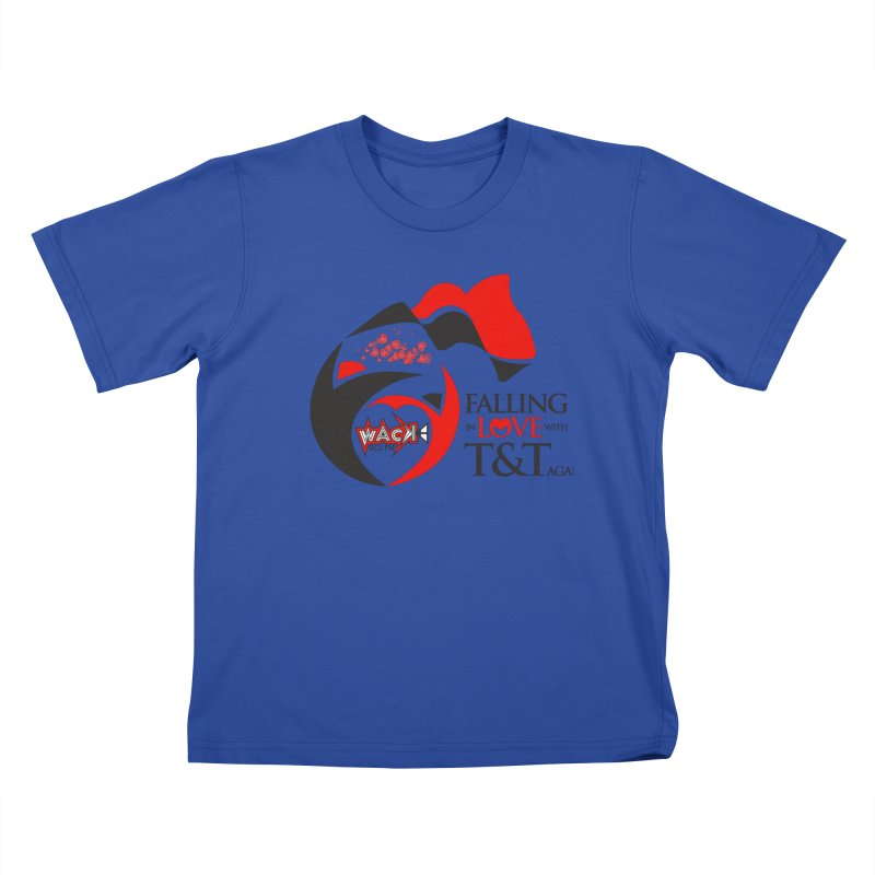 Fallin in Love with T&T Round Logo 2 Kids T-Shirt by WACK 90.1fm Merchandise Store