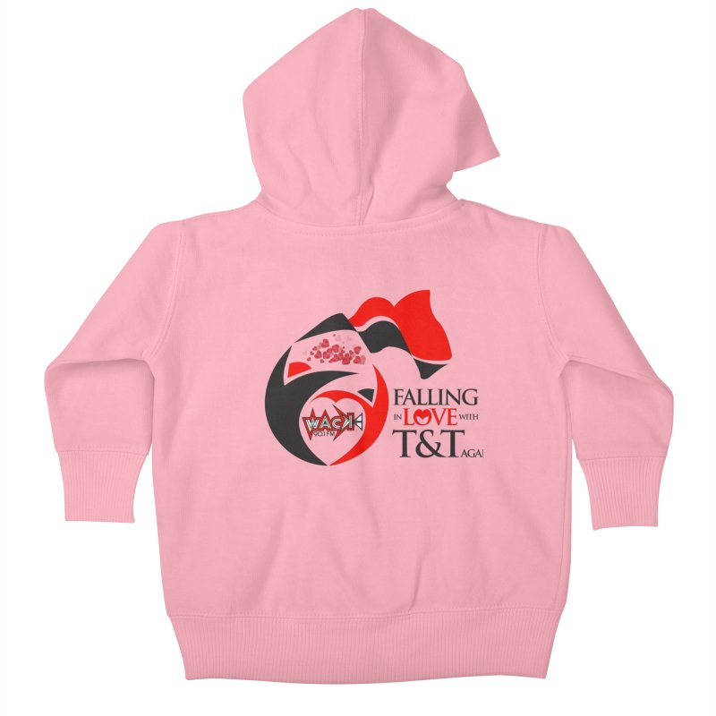 Fallin in Love with T&T Round Logo 2 Kids Baby Zip-Up Hoody by WACK 90.1fm Merchandise Store