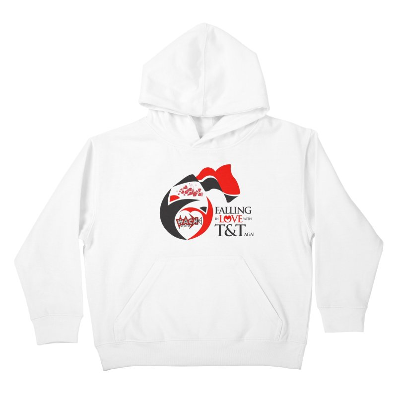 Fallin in Love with T&T Round Logo 2 Kids Pullover Hoody by WACK 90.1fm Merchandise Store