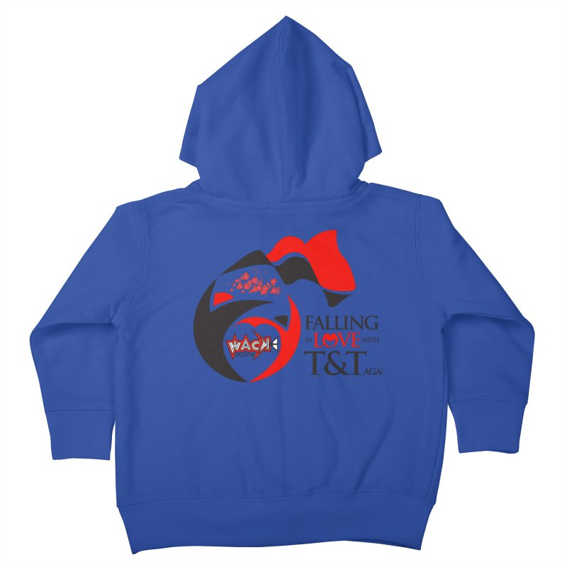 Fallin in Love with T&T Round Logo 2 Kids Toddler Zip-Up Hoody by WACK 90.1fm Merchandise Store