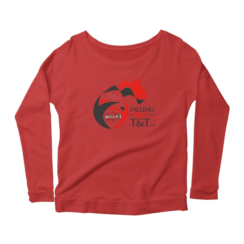 Fallin in Love with T&T Round Logo 2 Women's Scoop Neck Longsleeve T-Shirt by WACK 90.1fm Merchandise Store