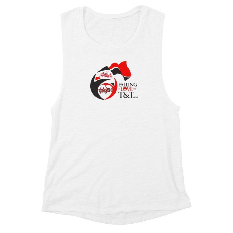 Fallin in Love with T&T Round Logo 2 Women's Muscle Tank by WACK 90.1fm Merchandise Store