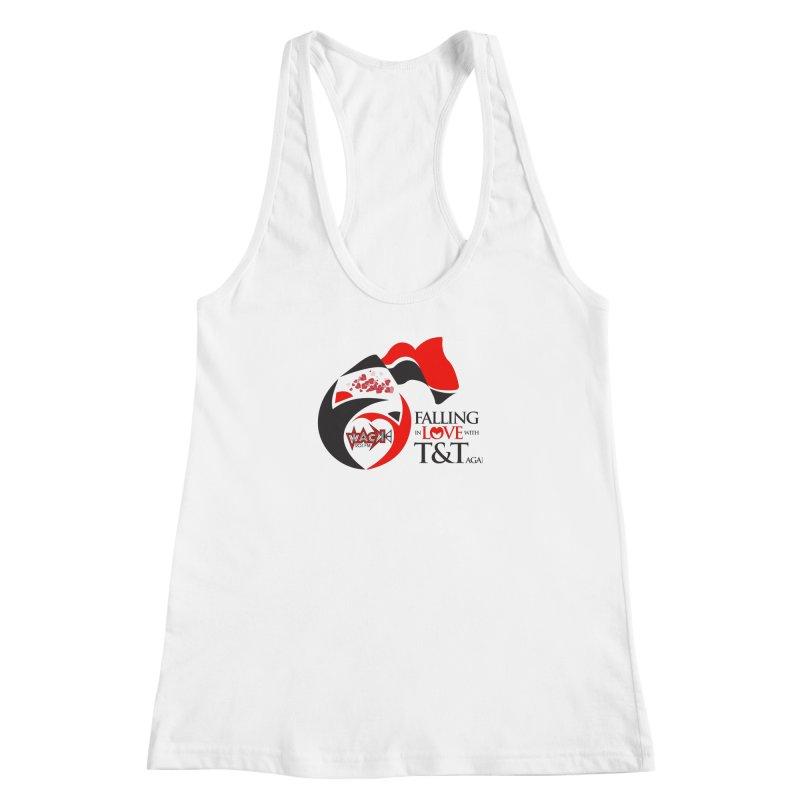 Fallin in Love with T&T Round Logo 2 Women's Racerback Tank by WACK 90.1fm Merchandise Store