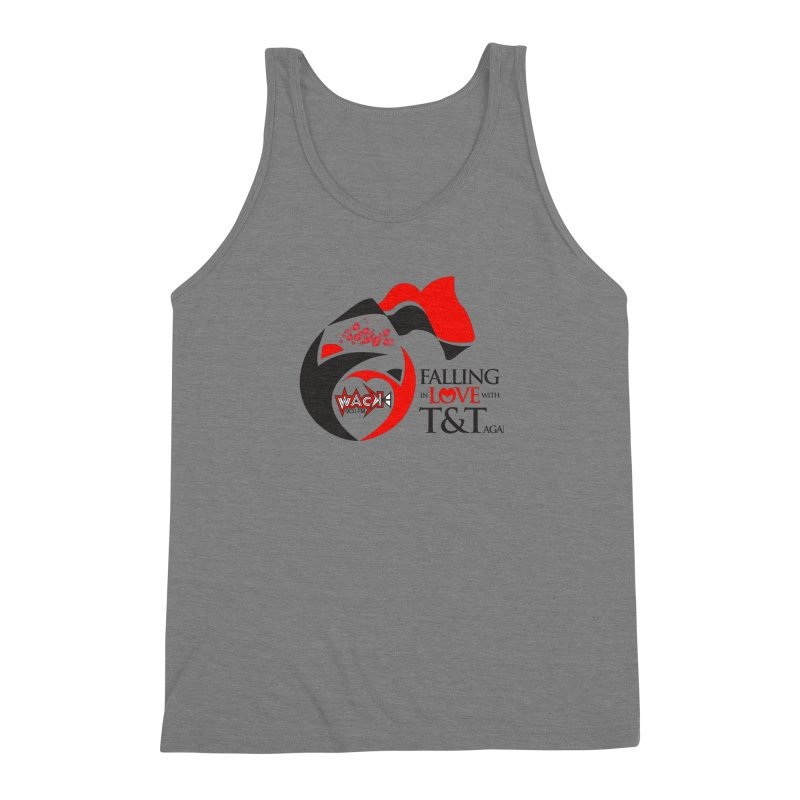 Fallin in Love with T&T Round Logo 2 Men's Triblend Tank by WACK 90.1fm Merchandise Store