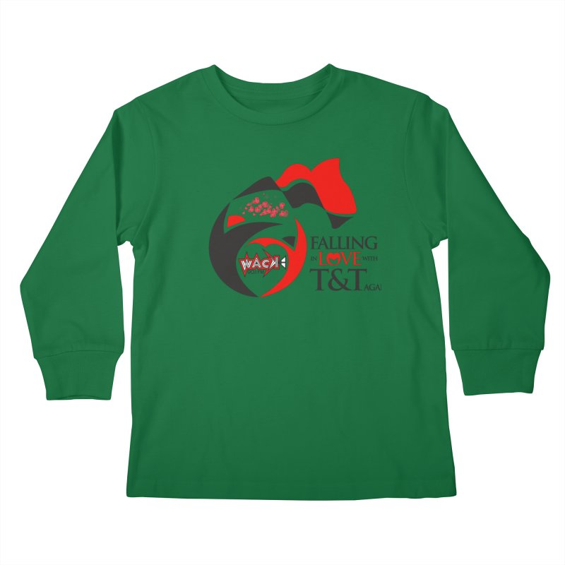 Fallin in Love with T&T Round Logo 2 Kids Longsleeve T-Shirt by WACK 90.1fm Merchandise Store