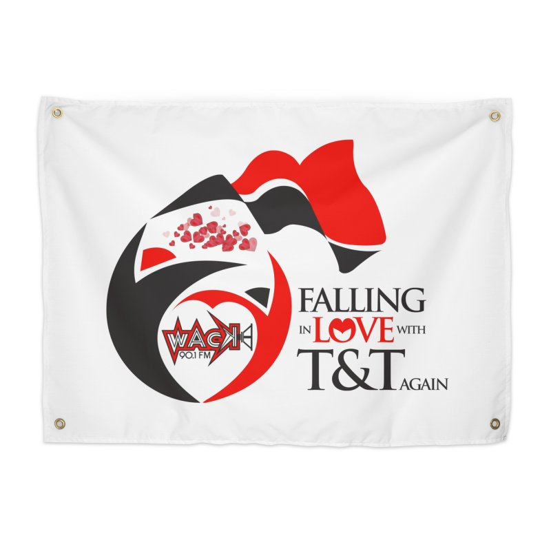 Fallin in Love with T&T Round Logo 2 Home Tapestry by WACK 90.1fm Merchandise Store