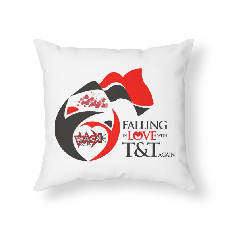 Fallin in Love with T&T Round Logo 2 Home Throw Pillow by WACK 90.1fm Merchandise Store