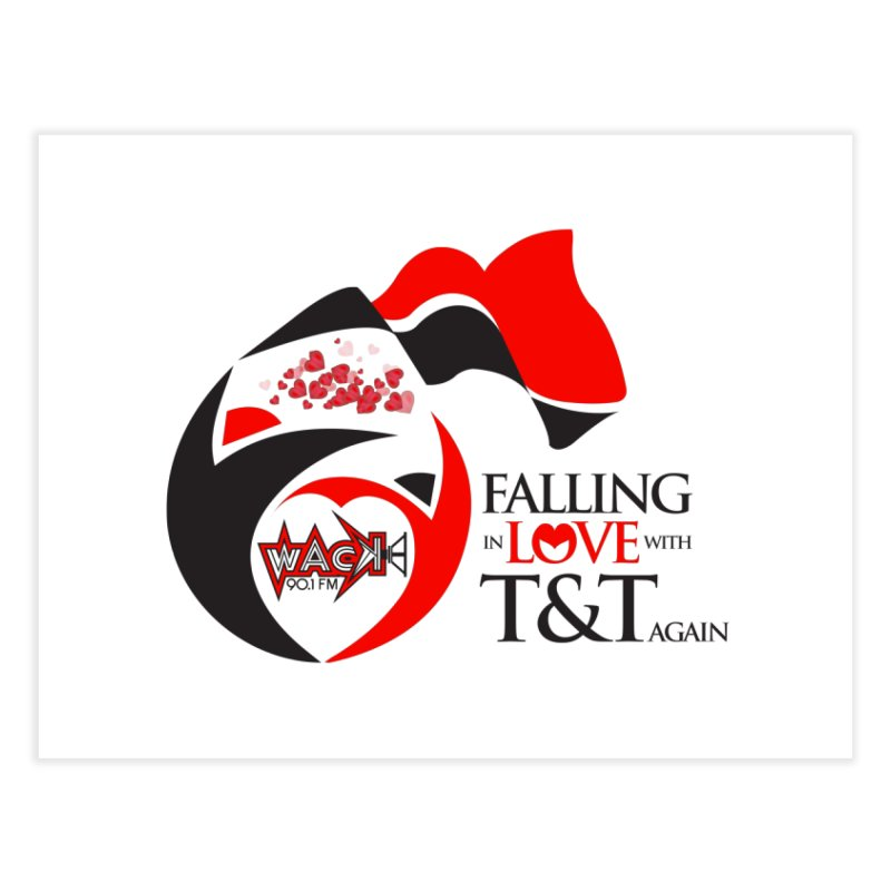 Fallin in Love with T&T Round Logo 2 Home Fine Art Print by WACK 90.1fm Merchandise Store
