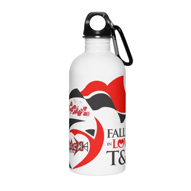 Fallin in Love with T&T Round Logo 2 Accessories Water Bottle by WACK 90.1fm Merchandise Store