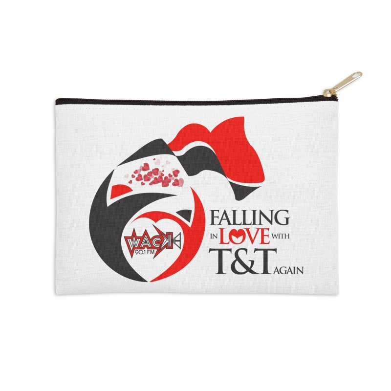 Fallin in Love with T&T Round Logo 2 Accessories Zip Pouch by WACK 90.1fm Merchandise Store