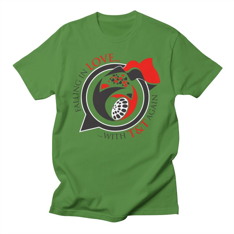 Fallin in Love with TT Round Logo 3 Men's T-Shirt by WACK 90.1fm Merchandise Store