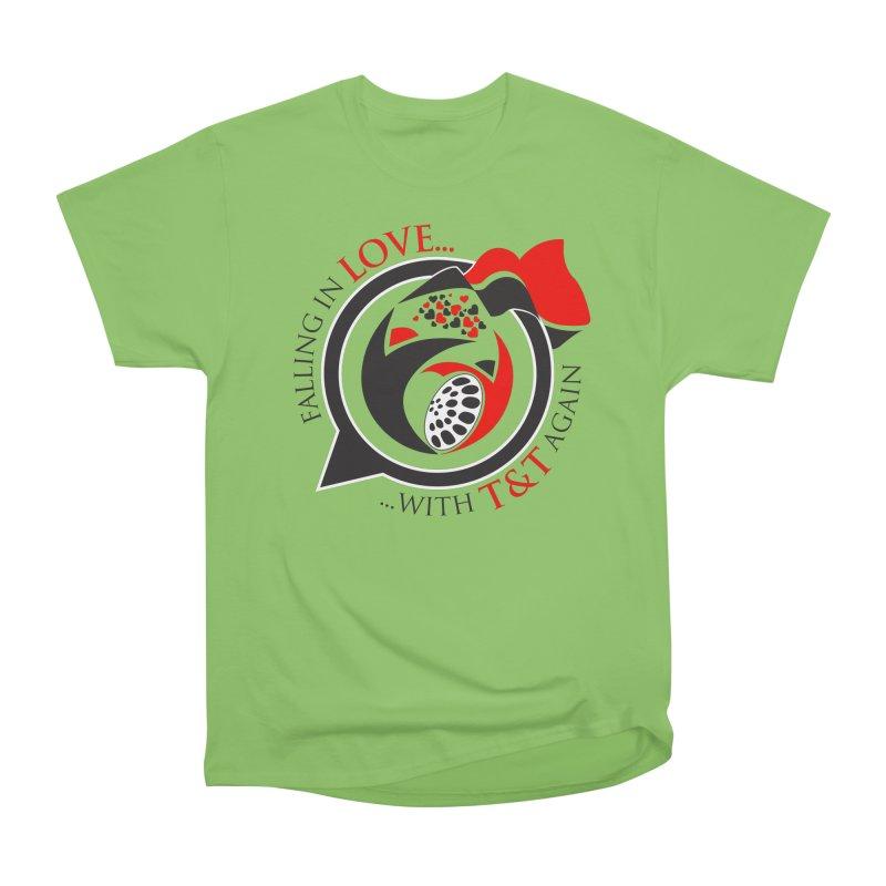 Fallin in Love with TT Round Logo 3 Women's Heavyweight Unisex T-Shirt by WACK 90.1fm Merchandise Store