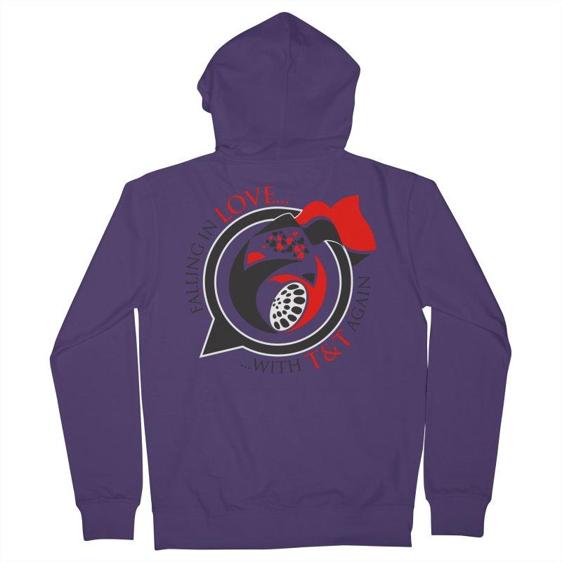 Fallin in Love with TT Round Logo 3 Women's French Terry Zip-Up Hoody by WACK 90.1fm Merchandise Store