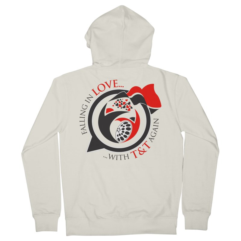 Fallin in Love with TT Round Logo 3 Women's French Terry Zip-Up Hoody by WACK 90.1fm Merchandise Store