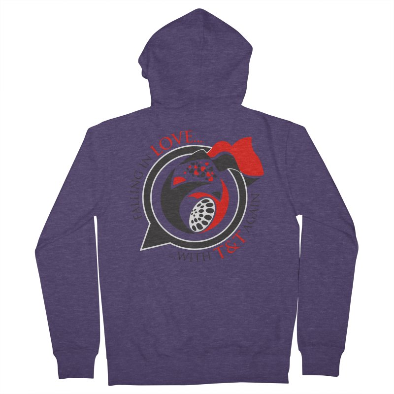 Fallin in Love with TT Round Logo 3 Men's French Terry Zip-Up Hoody by WACK 90.1fm Merchandise Store