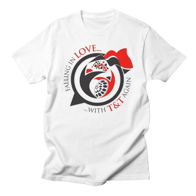 Fallin in Love with TT Round Logo 3 Men's Regular T-Shirt by WACK 90.1fm Merchandise Store