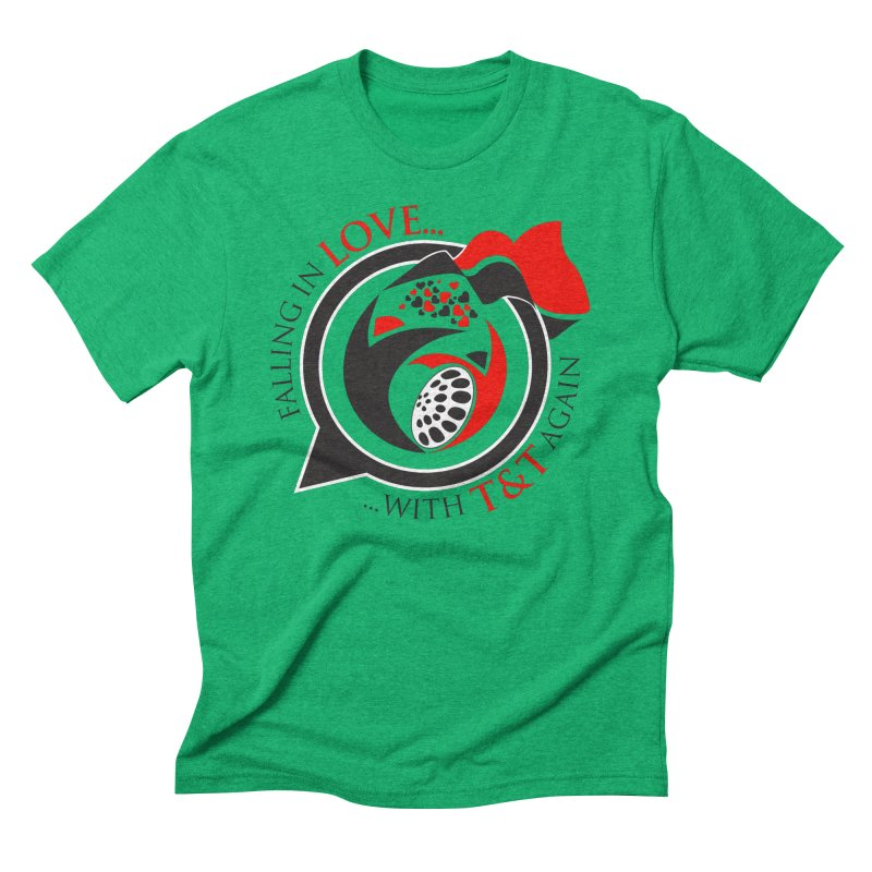 Fallin in Love with TT Round Logo 3 Men's Triblend T-Shirt by WACK 90.1fm Merchandise Store