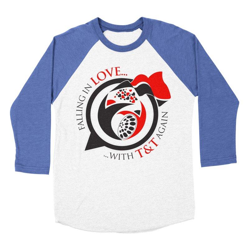 Fallin in Love with TT Round Logo 3 Women's Baseball Triblend Longsleeve T-Shirt by WACK 90.1fm Merchandise Store