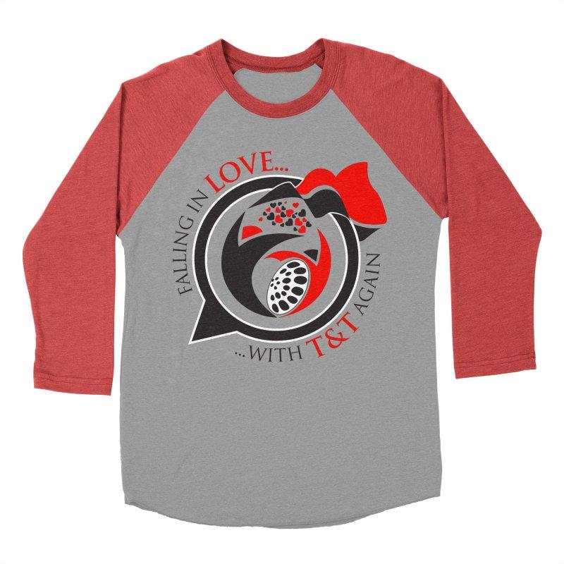 Fallin in Love with TT Round Logo 3 Men's Baseball Triblend T-Shirt by WACK 90.1fm Merchandise Store