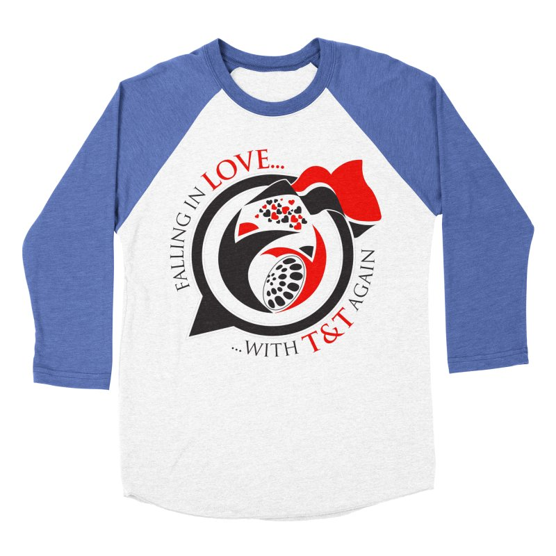 Fallin in Love with TT Round Logo 3 Men's Baseball Triblend Longsleeve T-Shirt by WACK 90.1fm Merchandise Store