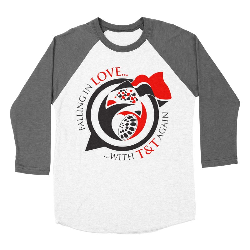 Fallin in Love with TT Round Logo 3 Men's Baseball Triblend Longsleeve T-Shirt by WACK 90.1fm Merchandise Store