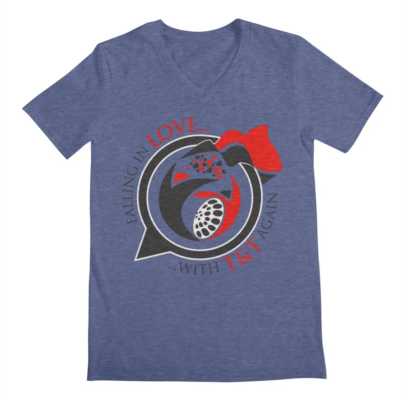 Fallin in Love with TT Round Logo 3 Men's Regular V-Neck by WACK 90.1fm Merchandise Store