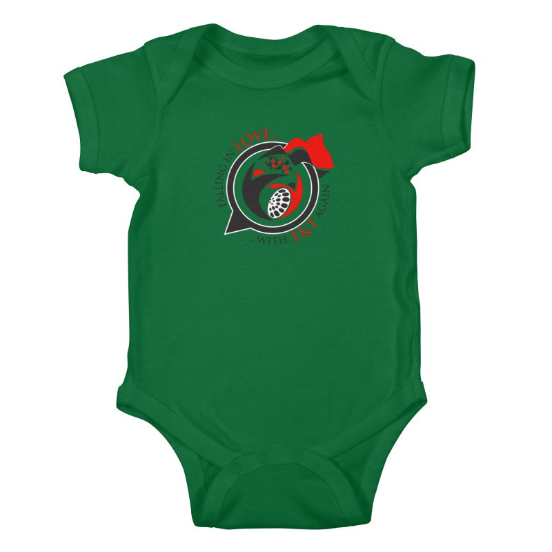 Fallin in Love with TT Round Logo 3 Kids Baby Bodysuit by WACK 90.1fm Merchandise Store