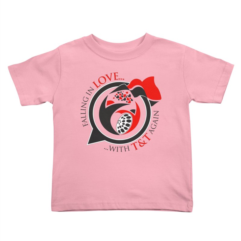 Fallin in Love with TT Round Logo 3 Kids Toddler T-Shirt by WACK 90.1fm Merchandise Store