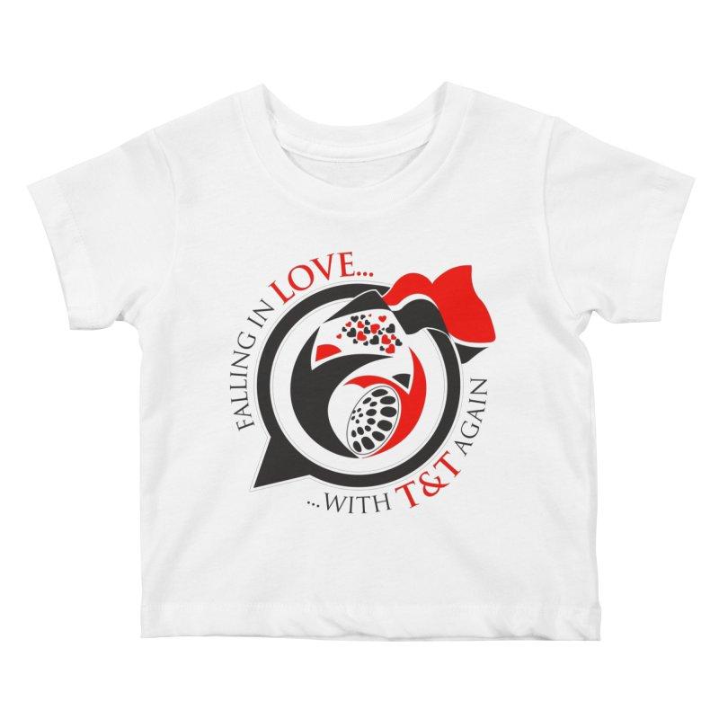 Fallin in Love with TT Round Logo 3 Kids Baby T-Shirt by WACK 90.1fm Merchandise Store