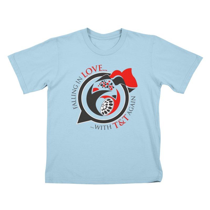 Fallin in Love with TT Round Logo 3 Kids T-Shirt by WACK 90.1fm Merchandise Store