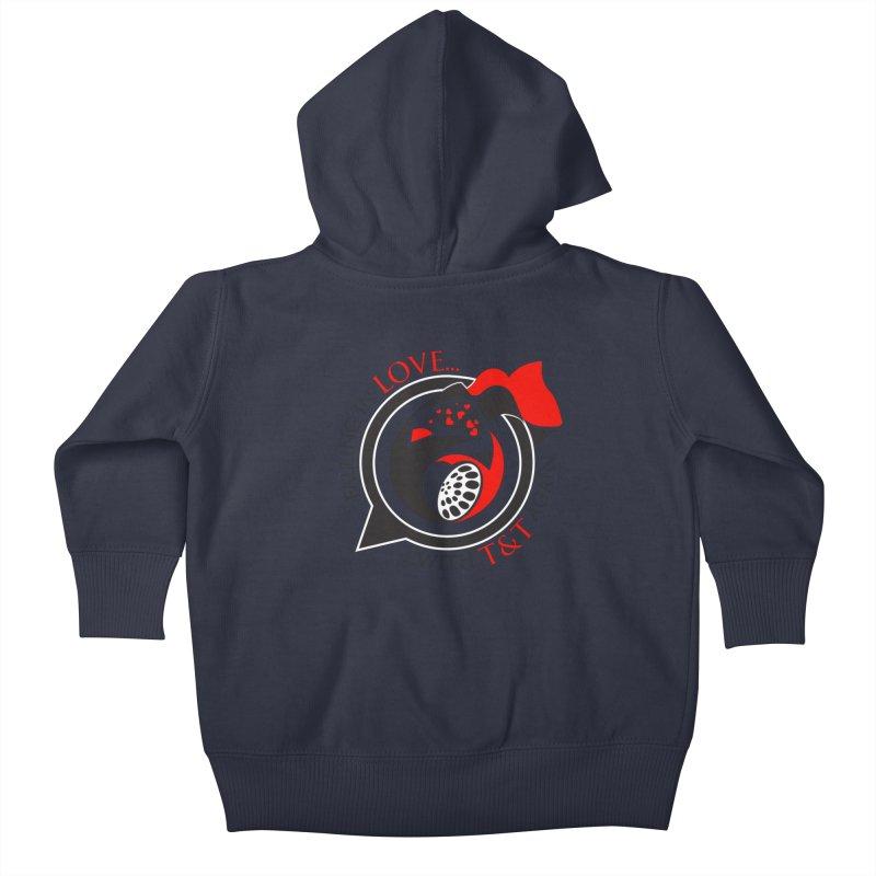 Fallin in Love with TT Round Logo 3 Kids Baby Zip-Up Hoody by WACK 90.1fm Merchandise Store