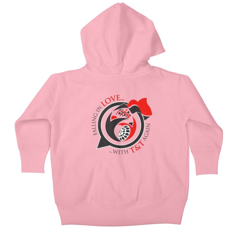 Fallin in Love with TT Round Logo 3 Kids Baby Zip-Up Hoody by WACK 90.1fm Merchandise Store
