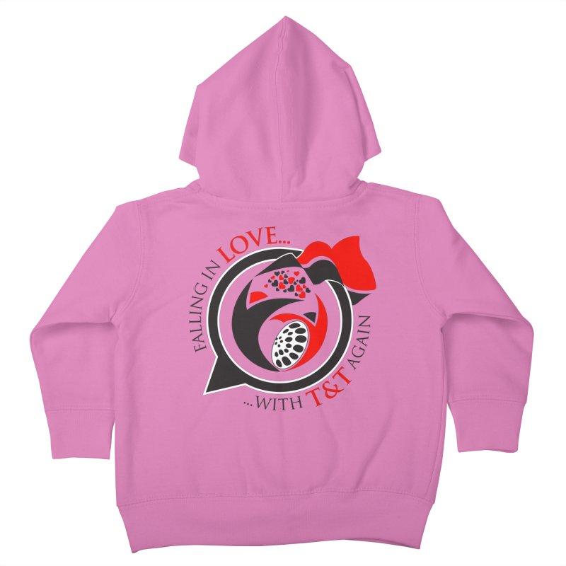 Fallin in Love with TT Round Logo 3 Kids Toddler Zip-Up Hoody by WACK 90.1fm Merchandise Store