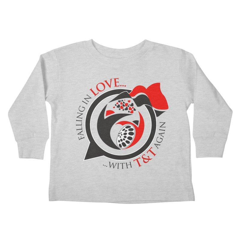 Fallin in Love with TT Round Logo 3 Kids Toddler Longsleeve T-Shirt by WACK 90.1fm Merchandise Store