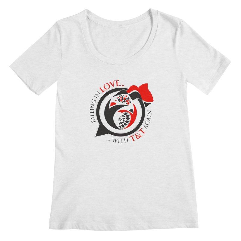 Fallin in Love with TT Round Logo 3 Women's Regular Scoop Neck by WACK 90.1fm Merchandise Store