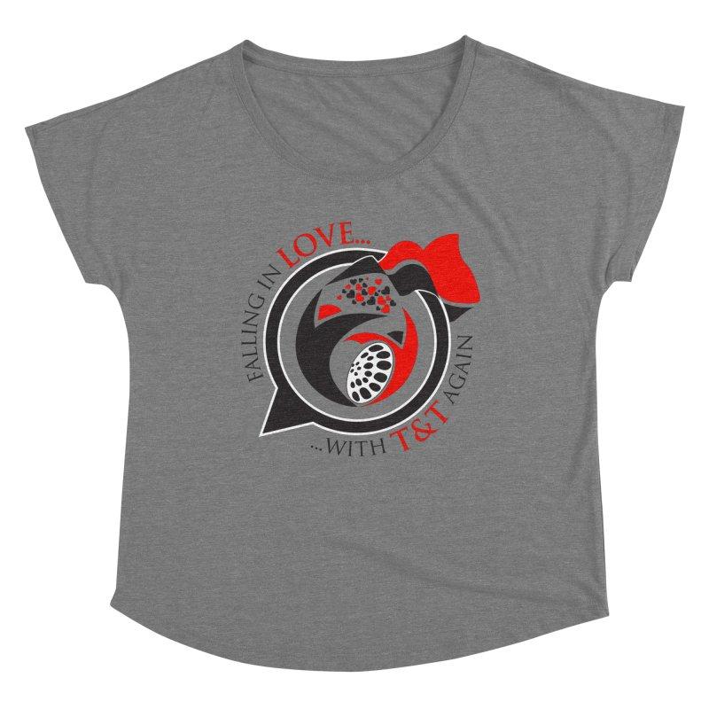Fallin in Love with TT Round Logo 3 Women's Scoop Neck by WACK 90.1fm Merchandise Store