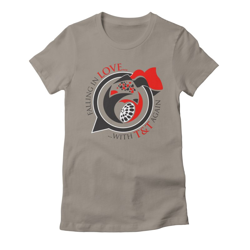 Fallin in Love with TT Round Logo 3 Women's Fitted T-Shirt by WACK 90.1fm Merchandise Store